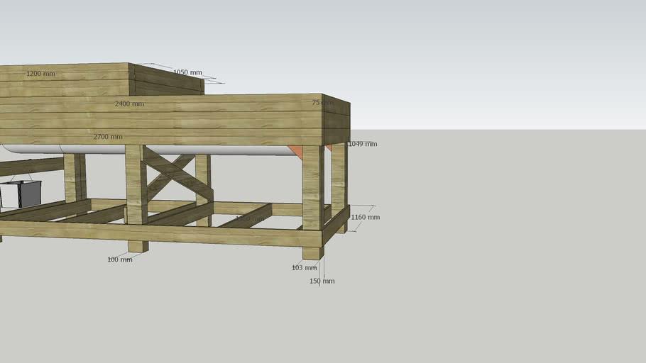 Salad Raised Bed 3'x2' Planter. Veg patch Wood, GardenNo Sleepers