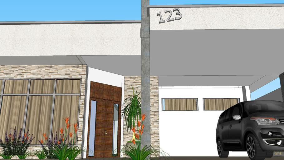 Casa térrea, Moderna, Fachada, contemporânea