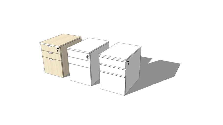Office Mobile Pedestal HPL Set by VINOTI Office