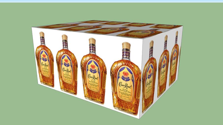 Crown Royal 750 ml Cut Case