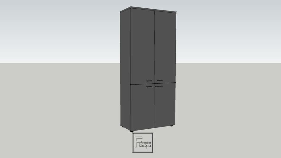 4-PANELLED DOORS CABINET_900x450x2090mm
