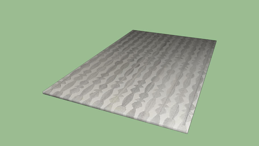 Crate & Barrel Graphite Neutral Striped Wool 5'x8' Rug