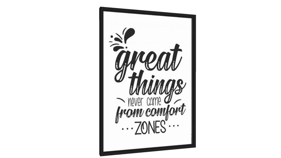 Quadro Great things never come from comfort zones - Galeria9, por JulioJodas
