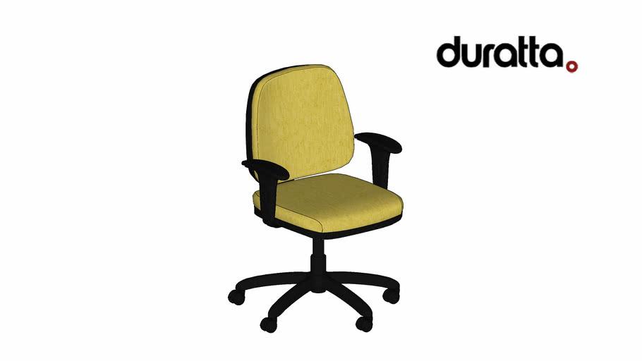 Cadeira Next Baixa Giratória com Braço