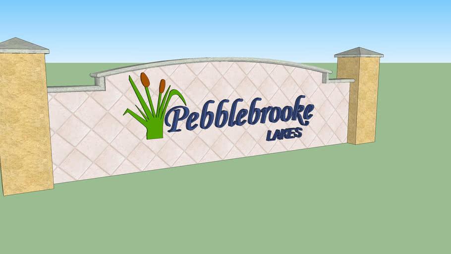 Pebblebrooke lakes sign