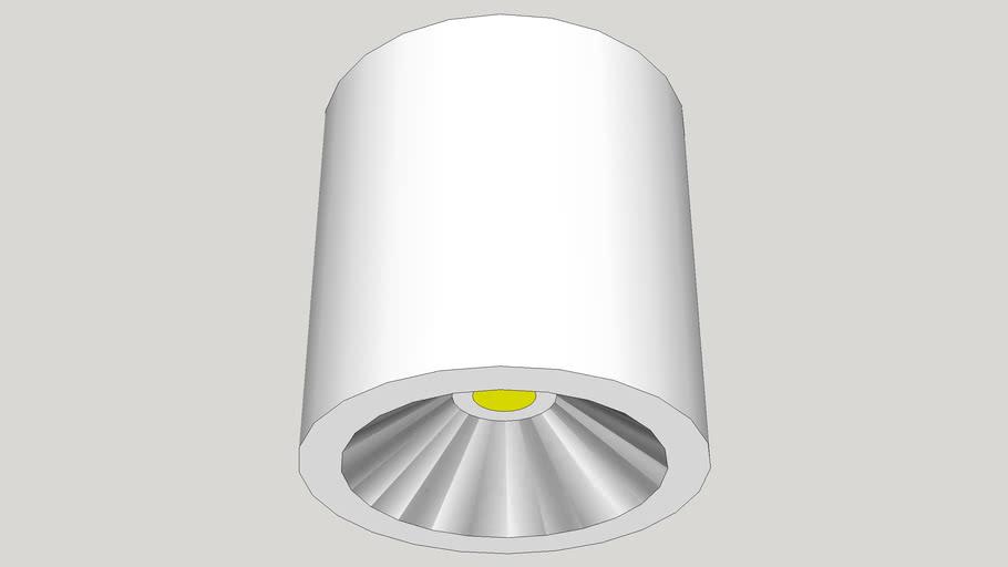 Đèn ống bơ (đèn lon) - Ø195*h200