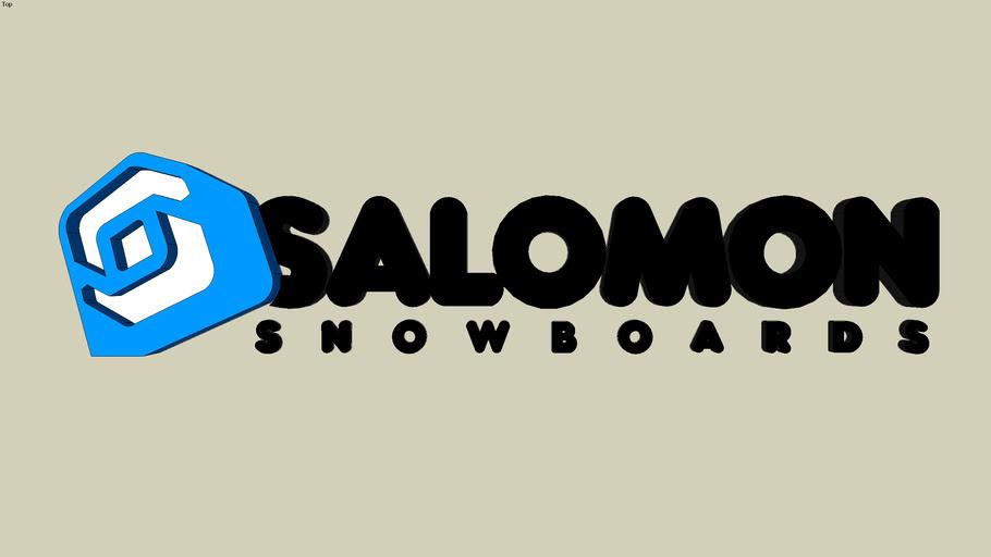 salomon snowboard 3D logo 2009/ 2010