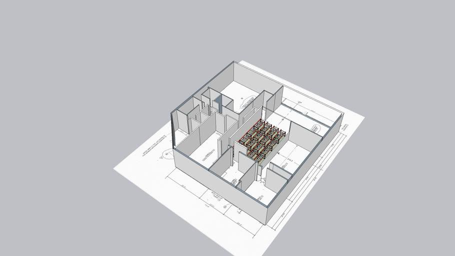 Floor Plan with 1 racked room