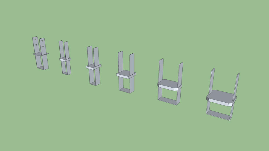 Simpson Column Bases (Low Poly)