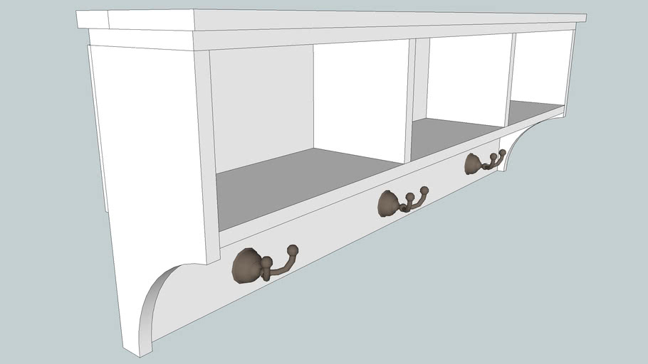 entryway shelf with coat hooks