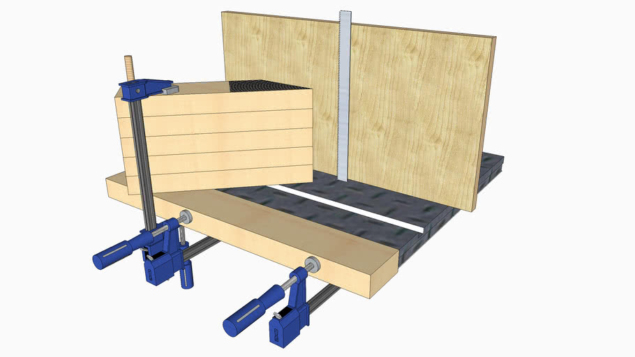 Band saw resaw fence and feather board