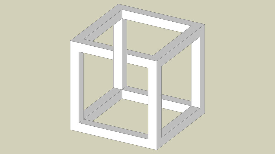 A variation on the cube optical illusion