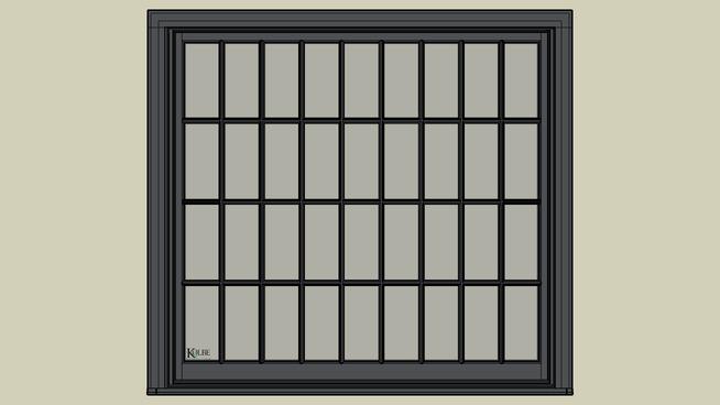 "Kolbe Ultra Sterling Double Hung Studio UDHS64510 (F.S. 6'-5 1/2"" x 6'-0 7/16"" R.O. 6'-6"" x 6'-1"")"