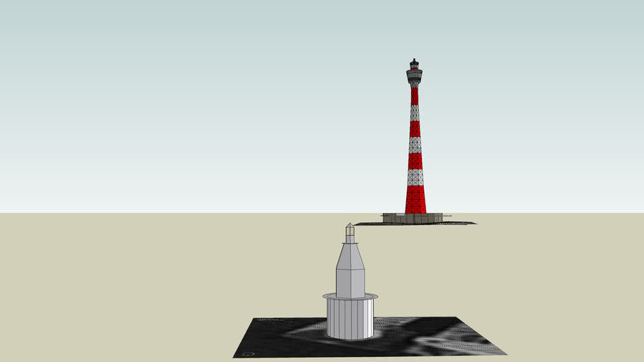 Yokohama Marine Tower: Aircraft Warning Paint Scheme