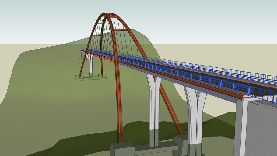 Arco de La Vicaria, modelo completo