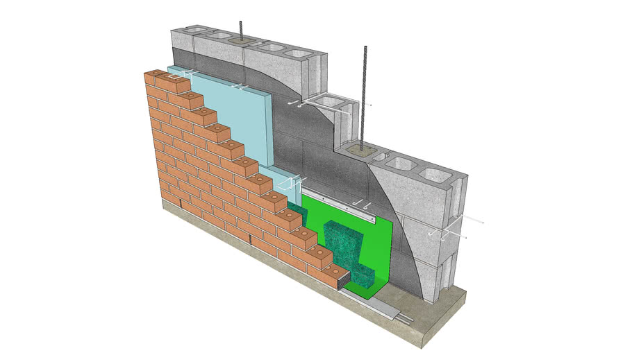 Base of Wall - Flexible Flashing, Drip Edge, Termination Bar, Mortar Dropping Collection Device