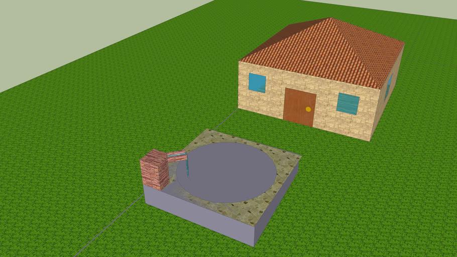Casa Brayan con piscina gris