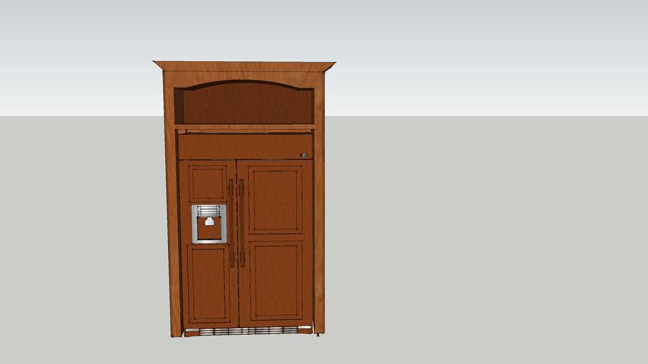 Dual Side Wood Refridgerator