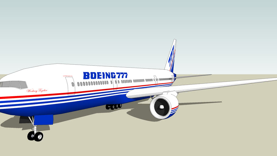 """Boeing 777-200 """"Working Together"""""""