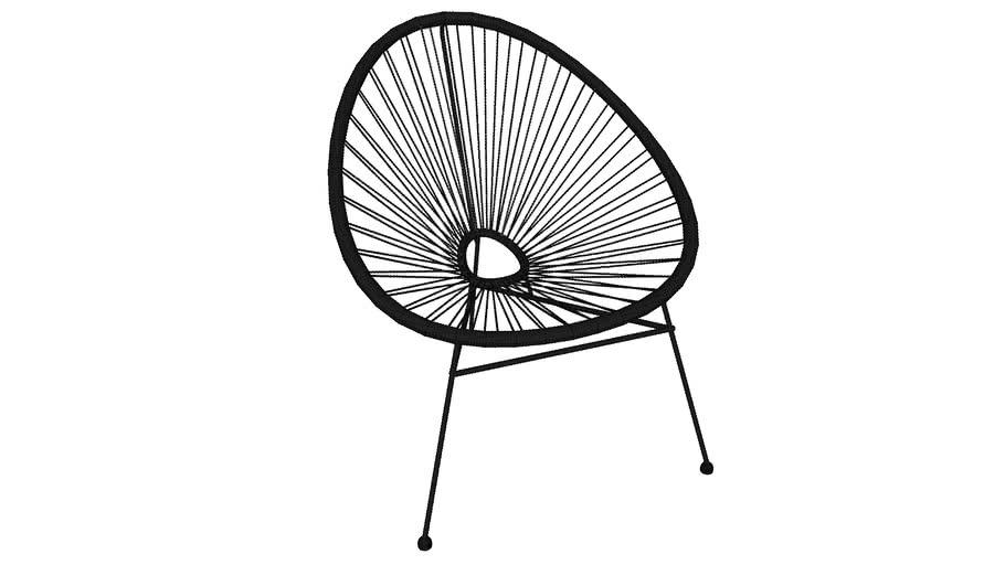 82877 Chair Spaghetti Black