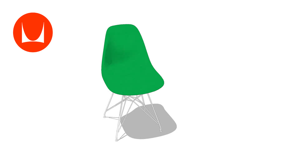 Eames Molded Plastic Side Chair Wire