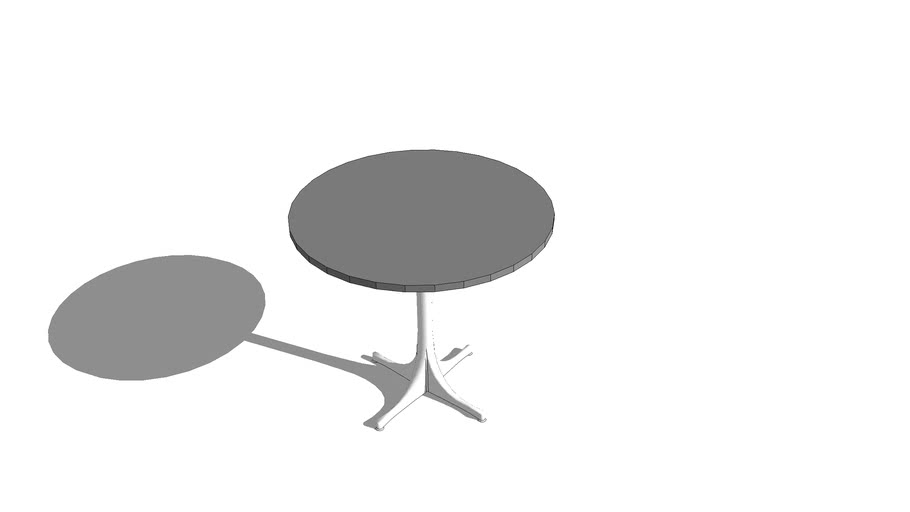 Nelson Pedestal Table - 26 in. H x 28.5 in. D