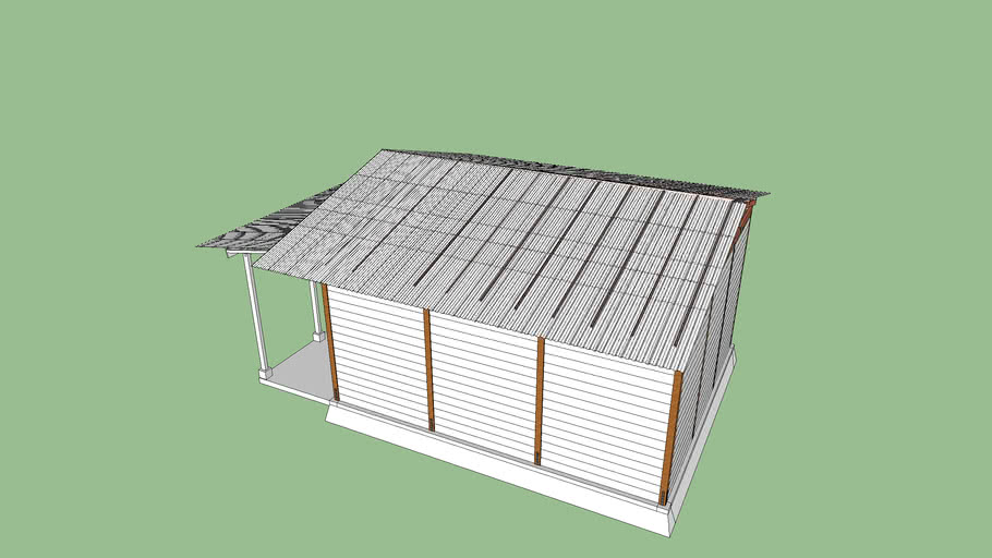 wooden Warehouse 6x7 meter