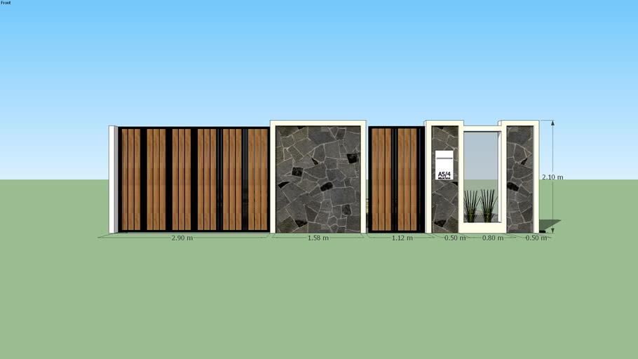 Desain Pagar Kayu | 3D Warehouse
