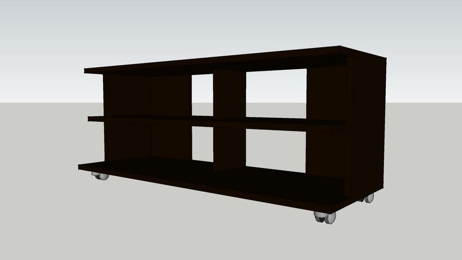 IKEA_BENNO_TV bench on castors_black-brown