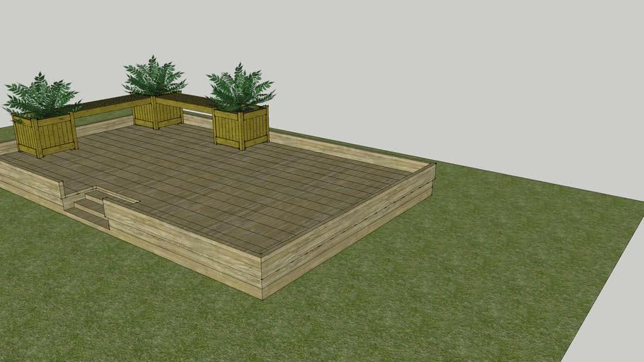 Planter Bench By Garison