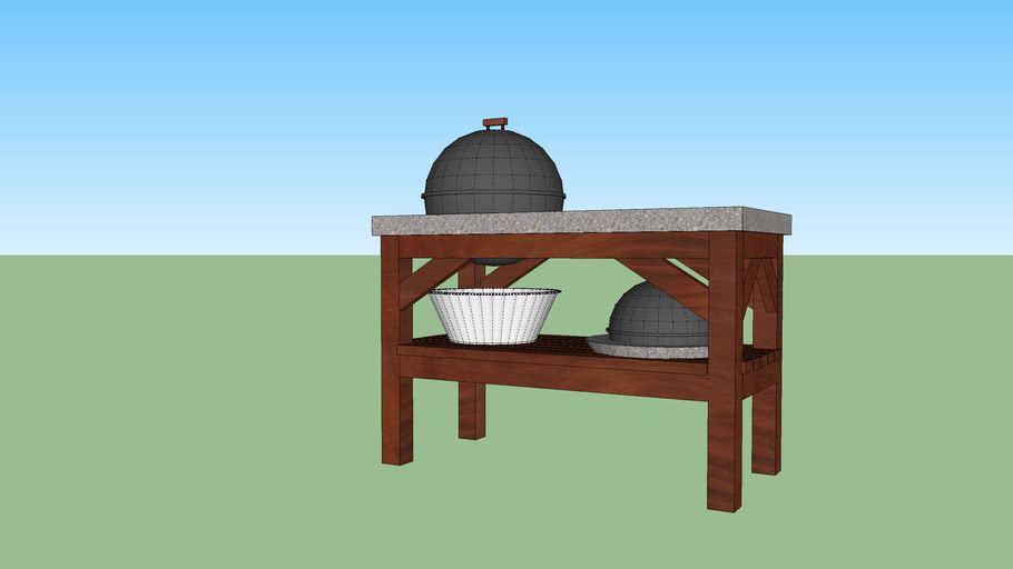 """BBQ station: 22.5"""" and 16"""" adaptations (Webber grills)"""