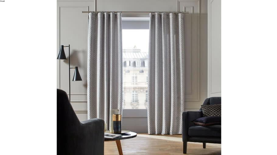 Pencil pleat curtain OSCAR by Madura Gray and white / 209€ - 289€ TTC