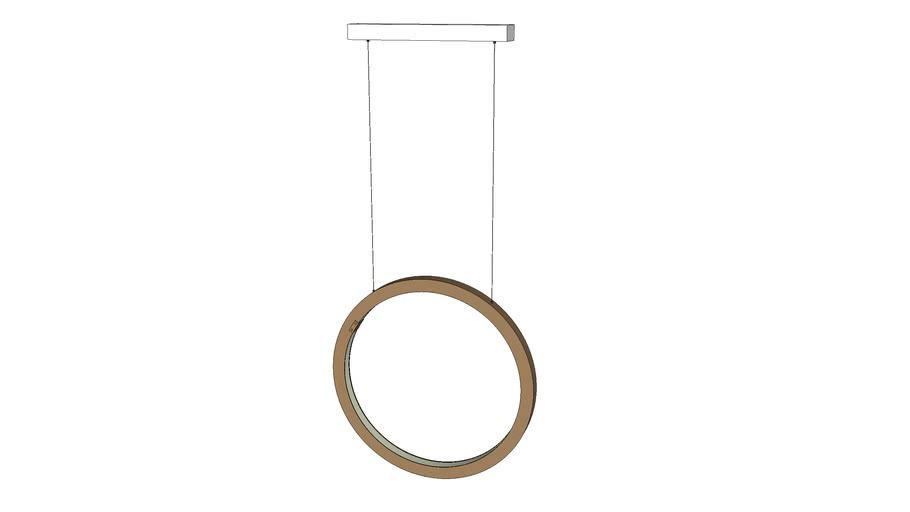 jacco maris   brass-O suspension lamp circle vertical 50cm