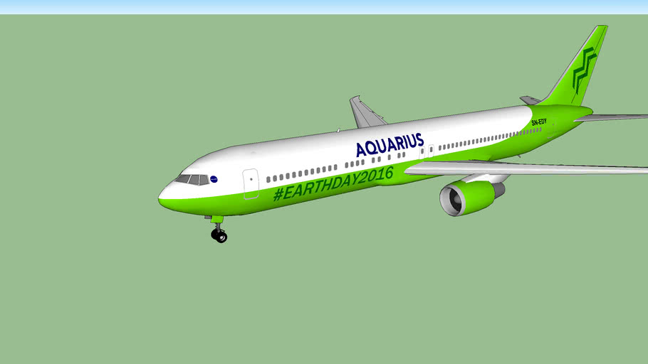 Aquarius Airlines Boeing 767-400ER Earth Day 2016 Edition