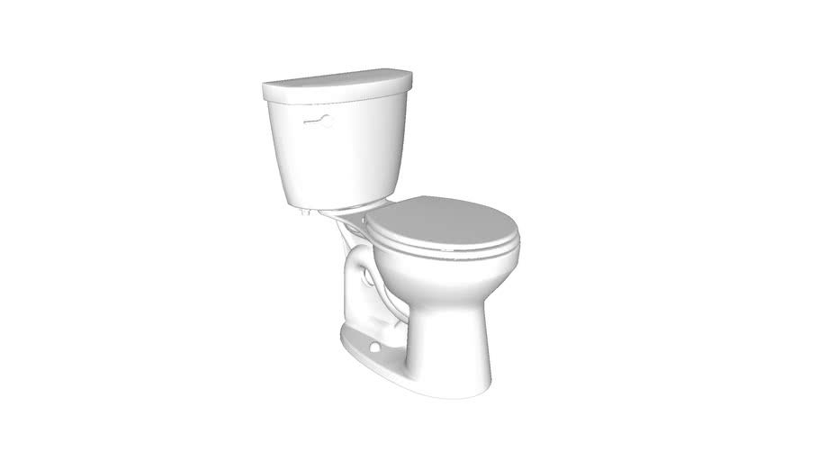 K-31641 Cimarron(R) Comfort Height(R) two-piece round-front 1.28 gpf chair height toilet