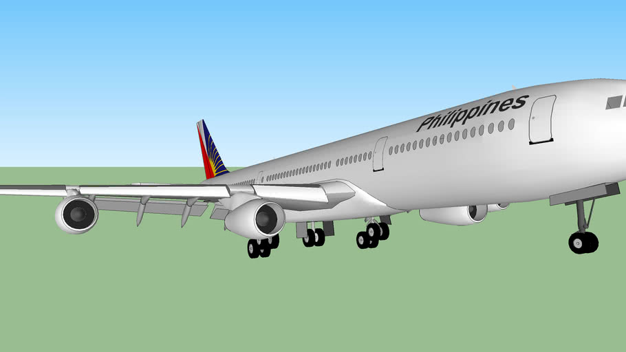 Philippine Airlines A340 landing