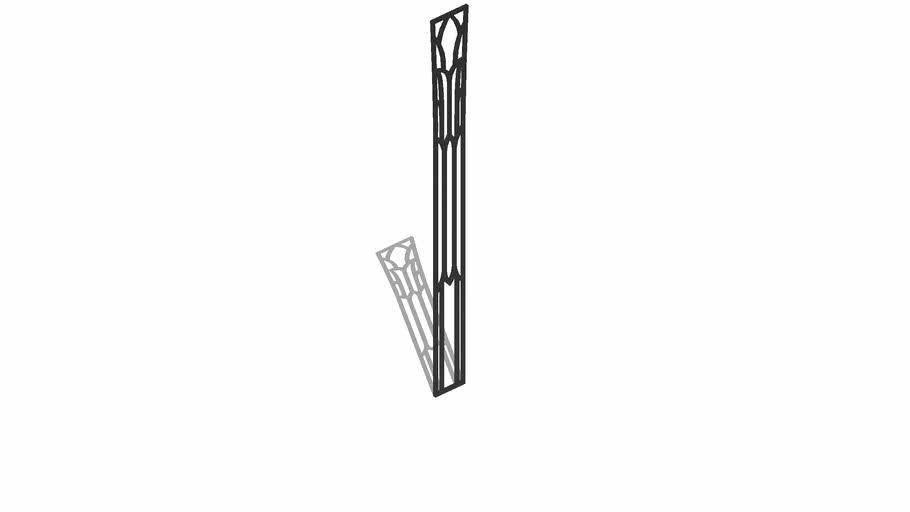 "01250203 Tudor Column Insert Set ( 2.188"" x .125"" x 20.25"" )"