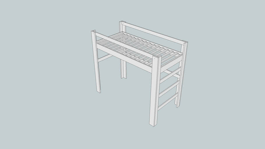 Simple loft bed
