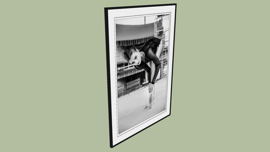 "BRODZIAK ""Ballerina #09"" 127x178 cm - Black&White, Photography, Image, Picture"