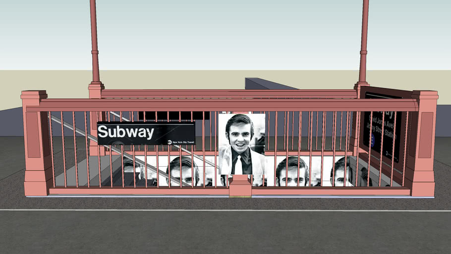 Old New York City Subway Entrance David Jones Avenue/Jimmey Street Station
