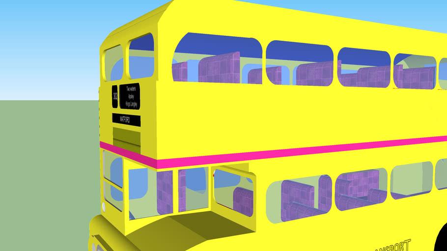 yellow routemaster bus
