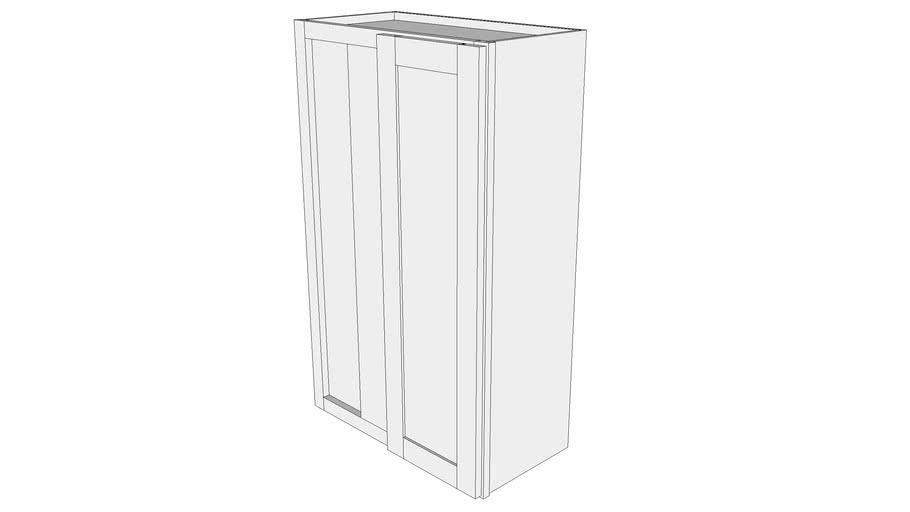 "Bayside Wall Cabinet WBC2439 - 12"" Deep, Blind Corner Cabinet, One Door"