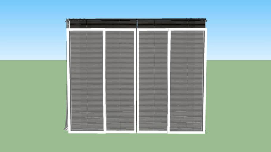 ventana cortina gris