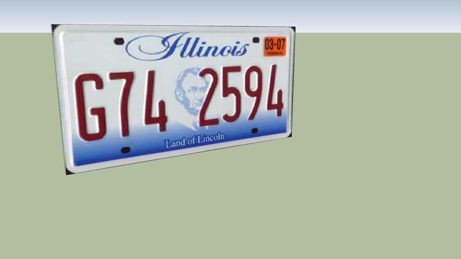 Illinois Licence Plate