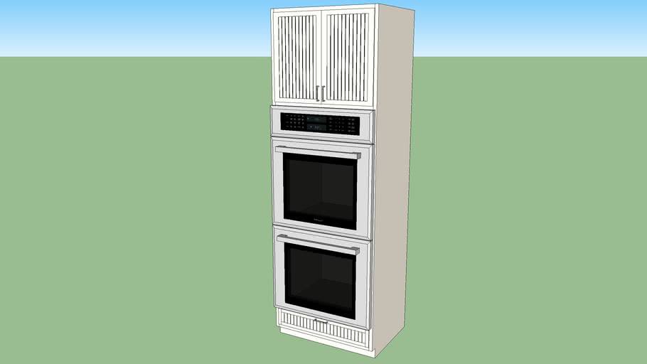 Kitchen Cabinet Double Wall Oven 3d Warehouse