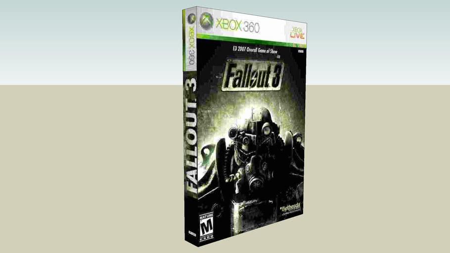 Fallout 3 Xbox 360 game case