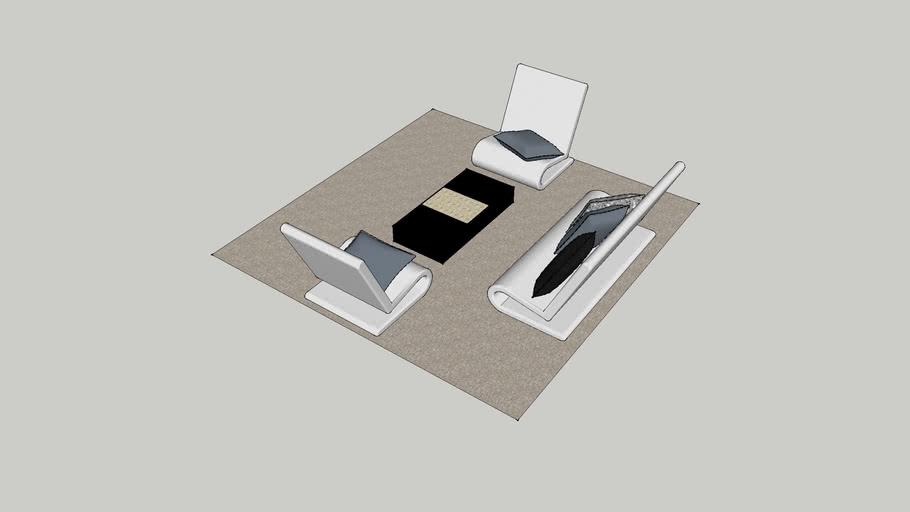 Modern sala set for small living room.