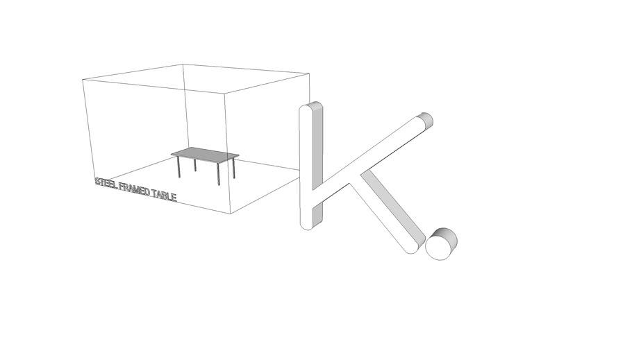 Steel Framed Table