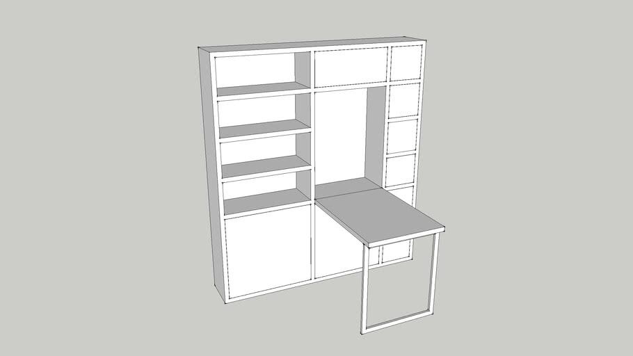 meuble sur mesure ouvert