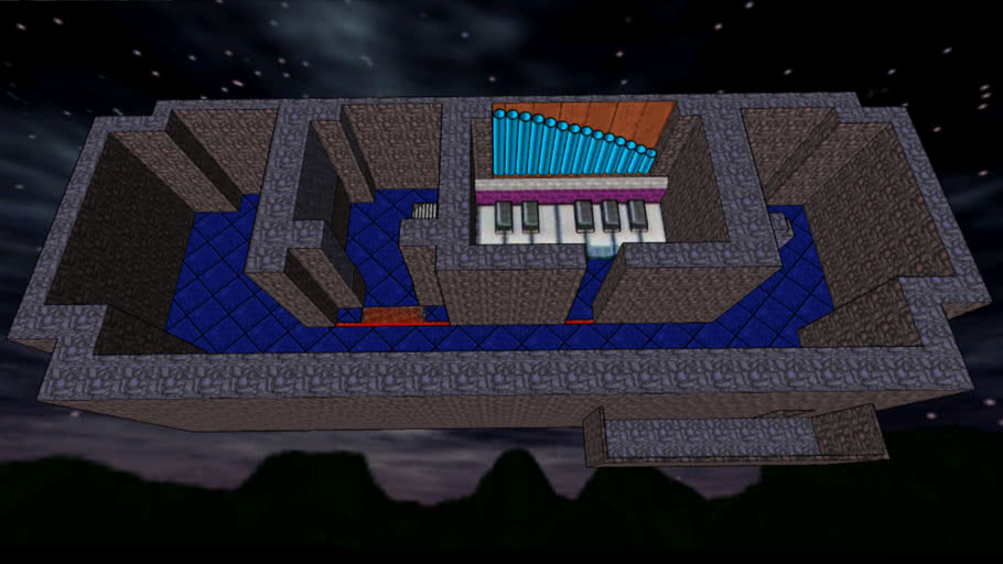 Giant Piano in Bellcola's Cave - Sketchup 7.